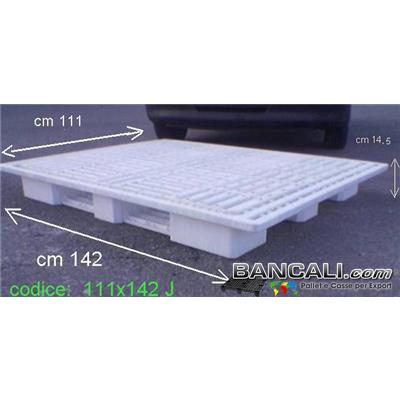 15H112x142W4J - BANCALE GRANDE in Plastica 1120x1420 h150 mm. SOVRAPPONIBILE Peso Tara 18 Kg