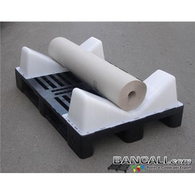 2 Selle Culle montate su Pallet in Plastica Logistic80x120 per la movimentazione e il Trasporto di Bobine