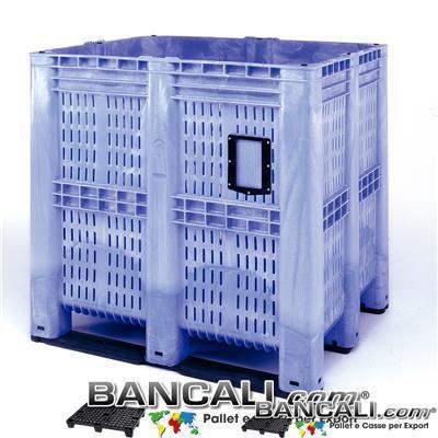 AgriBox1390LC - BOX GRAN VOLUME   1150  x 1300 h1300 mm.  Capacita 1390 Litri,  Cassa in plastica ventilata idonea per l'agricoltura con pareti Forate,  Peso Tara:  72 Kg