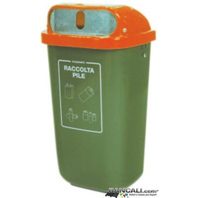 Bin50L-URBANJ - Bidone per rifiuti 50 Litri  in plastica per uso urbano o Aziendale, disponibile in vari colori   Altezza 250 mm  Larghezza 440 mm Lunghezza 263 mm   Peso Tara 3 Kg.