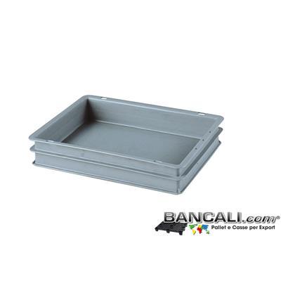 Box40x30h07DM - Contenitore Robusto 400x300xh.70 mm. in Plastica Atossica Capacità Litri 6. La cassa è sovrapponibile Dotata di 2 Maniglie NON Passanti. Peso Tara Kg. 0,450