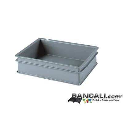 Box40x30h10DM - Contenitore Robusto 400x300xh.100 mm. in Plastica Atossica Capacità Litri 9. La cassa è sovrapponibile Dotata di 2 Maniglie NON Passanti. Peso Tara Kg. 0,500