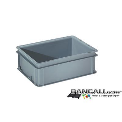 Box40x30h14DM - Contenitore Robusto 400x300xh.140 mm. in Plastica Atossica Capacità Litri 12. La cassa è sovrapponibile Dotata di 2 Maniglie NON Passanti. Peso Tara Kg. 0,600