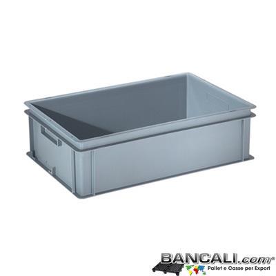 Box40x60h17DM - Contenitore Robusto 400x600xh.170mm. in Plastica Atossica Capacità Litri 30. La cassa è sovrapponibile Dotata di 2 Maniglie NON Passanti. Peso Tara Kg. 1,625