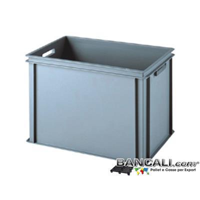 Box40x60h40DM - Contenitore Robusto 400x600 h.400 mm.  in Plastica Atossica Capacità Litri 70. La cassa è sovrapponibile Dotata di 2 Maniglie Passanti. Peso Tara : Kg. 3,400