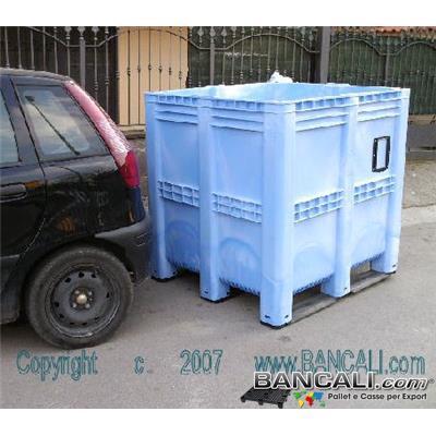 BoxVOL1390LC - BOX GRAN VOLUME  1390 Litri  Versione Pareti Chiuse. Dimensioni: Larghezza 1150 mm x lunghezza 1300 mm x altezza 1300 mm. Peso 72 kg.
