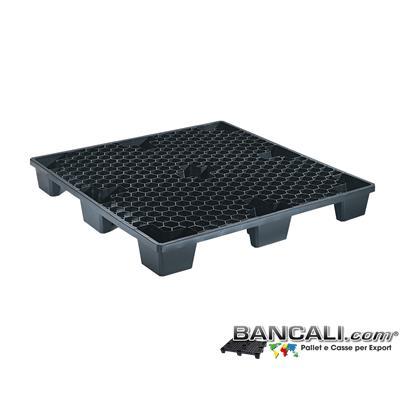 EXPORT-PALLET® 1130x1130 mm. in Plastica Quadrato per Container  Grigliato a Maglia Esagonale, 9 Piedi, Inseribile, idoneo per Spedizioni Marittime. Peso Tara 9,4 Kg.