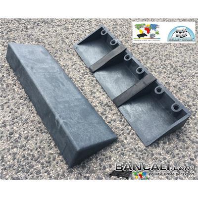 Cunei Cuneo in Plastica 480 mm. Zeppa Universale con 2 Gommini Antiscivolo, per Bloccare le Bobine, Rotoli o Cilindri in genere. Peso Tara 978 gr.