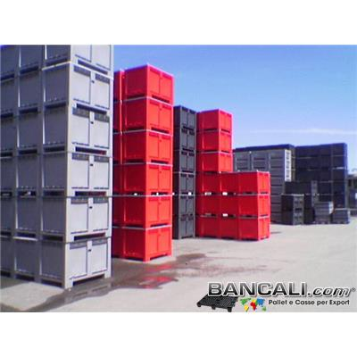 CargoPallet EuroBox 800x1200 h. 850 Colorato per Classificare Merce  550 Lit. Atossico Plastiche Nobili Simbolo idoneità Alimenti Usi igienici. Peso Tara Kg. 25