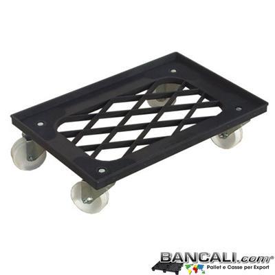 Carrello40x60DM - Carrello 400x600 h 150 mm dotato di 4 ruote sottostanti idoneo al trasporto delle cassette gamma BOX40x60DM