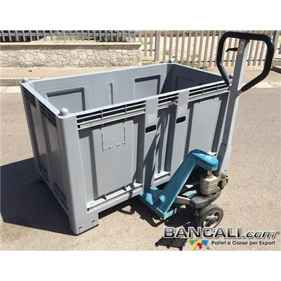 Combi-Cargo-Pallet-Box-80x150h85-ATX-4P-R4-XL-MG - Cargo Pallet BOX 800x1470 h.850 mm. Combinato. Pareti Chiuse 4 Piedi Peso Rinforzato 4 Barre 4 vieTara 40 Kg.