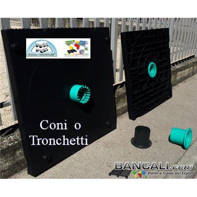 """Cono-152-Plug-6-Tronchetto-Mandrino - Cono Plug da 6"""" Pollici o 152 mm.Tronchetto Mandrino per Flangia per Bobine Cilindri Pellicole Film."""