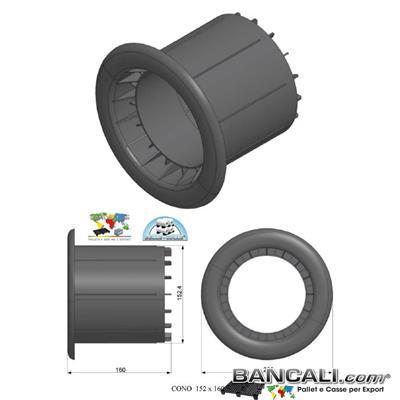 Cono152P6q15Ly - Cono Plug in plastica con Diametro da 6