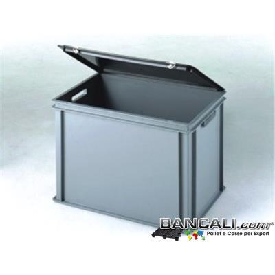 Coperchio40x60App. - Coperchio 400x600 mm. ad appoggio di Colore nero in Plastica. Peso 0,700 Grammi.