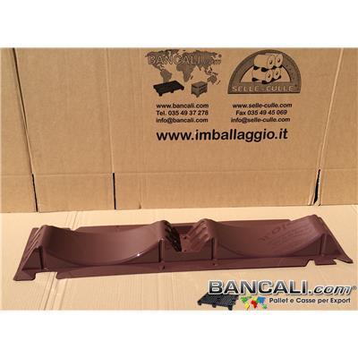 D55C42-2YA107 - Porta Bobine in Plastica PET con 2 Culle per 2 Bobine da Diametro 450 a Ø 550 mm. Selle per Rotoli Sovrapponibili L.1070 mm Larg. 230 mm Peso Tara: Gr. 400