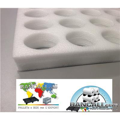 Separatori Divisori 1000x1200 mm.  interfalde per Rocchetti di Filati Tessili Spessore 40 mm. Fori 3x4=12 Fori, Densità 100 Kg. al Metro Cubo Dividers Yarn Spacer Textile Pallet Tara Kg. 5,4 circa.