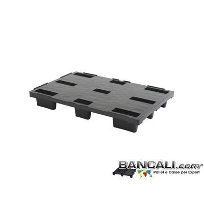 EXP80x120CDFW - Europallet 800x1200 mm in Plastica  PIANO CHIUSO, inseribile con 9 Piedi idoneo all'Export.  Peso Tara 7 Kg.