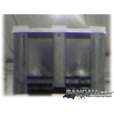 EXPORT-BOX-100x120h76C - EXPORT-BOX® Cassone in Plastica 100x120  h.76cm PARETI Chiuso  4 Piedi  Kg. 37 incluso Coperchio ( di forma RETTANGOLARE ).