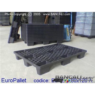 EurExp80x120A - EXPORT-PALLET® in Plastica 800x1200 Inseribile Grigliato a maglia Esagonale Alveolare di Media Robustezza, Peso Tara 8,00 Kg.