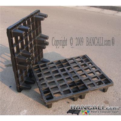 Bancale in Plastica 800x800 mm inseribile a maglia grigliata 6 Piedi per Spedizioni Marittime nei Container EXPORT-PALLET® per la Logistica.Peso Tara  Kg. 4