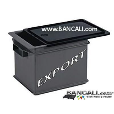 ExportBox21L - Export Box da 21 Litri 30x40 h.26 cm con coperchio a slitta