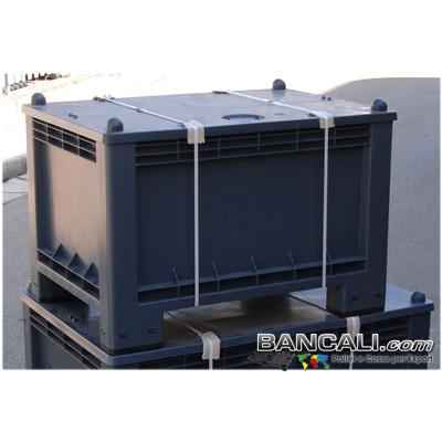 ExportBox300L - CASSA per EXPORT 70x100 h.65cm 300 Litri  in  PLASTICA 4 piedi  con  il  COPERCHIO