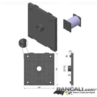 Flangia-800x840-Cono-6-Pollici-152.mm-Ly - Flangia Quadrata in Plastica 800x840 mm. de