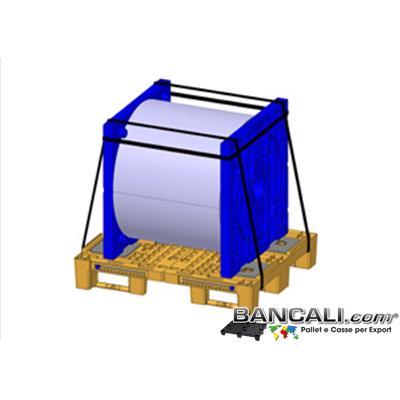 Flangia-per-Bobina-100x104-sp70-No-Cono-Ly - Flangia  in Plastica 1000x1040 mm. destinata all'uso di porta bobine in sospeso; Senza Cilindro sporgente,cono,o tronchetto. di colore Nero, Kg. 13,3; H.70 mm.