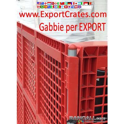 Gabbia Componibile per imballi per Export. Larghezza 1000 mm. Lunghezza 2000 mm. altezza da 1000 mm.  Disponibili anche Lunghezza da 1 metro a 12 metri. altezza da 1 a 3 metri.