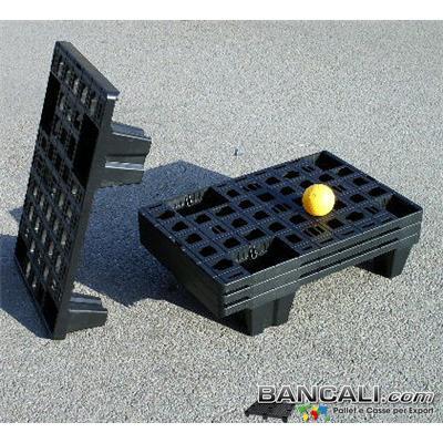 microPALLET®  Espositore 37x57 Dyisplay Pallet in Plastica Grigliato 4 piedi Peso Tara 1,1 Kg.
