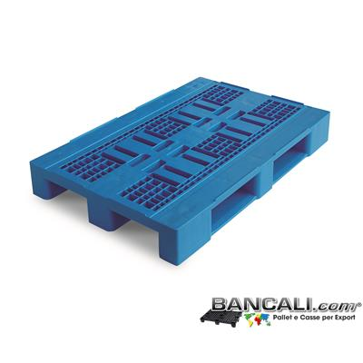 HYGn80x120PGV - Pallet igienico 800x1200 h.155 mm.  Atossico per alimenti stampato con Plastiche HDPE Vergini. Pianale Grigliato, Dotato di 3 Slitte Peso Tara 13 Kg.