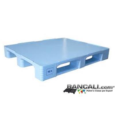 Haccp100x120TC3 - Pallet Igienico 1000x1200 a piano chiuso Realizzato con Plastiche Atossiche Vergini di prima Fusione inodori, con Standard Brc e Haccp, Peso Tara 22 Kg.