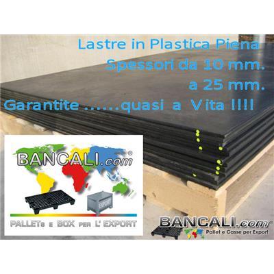 LST15x30h10PP - Lastra in Polipropilene 1500x3000 h.10 mm. Riciclata molto Robusta e Resistente idonea per  lavori pesanti Peso Tara 36 Kg.
