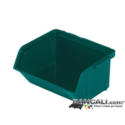 Lupo102x88xh50 - Contenitore in Plastica a bocca di lupo,102 x 88 h 50  mm. per il prelievo manuale del contenuto nei magazzini e nelle catene di montaggio. Componibili Autoportanti, Peso Tara 0,037 Kg.