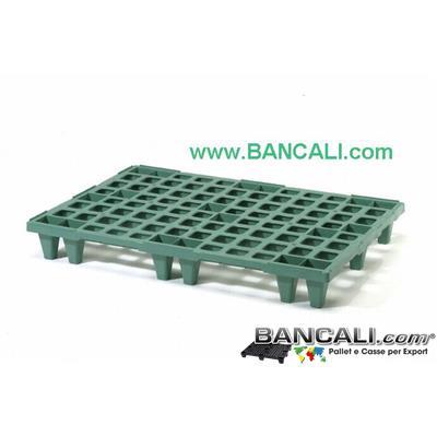 Europallet  Plastica  80x140 Leggero x Export  Colore Nero Inseribile  MultiPiede  Kg. 7. TOTALMENTE SENZA BORDI.