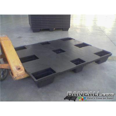 NesT100x120Cd - BANCALE PIANALE CHIUSO 100x120 ROBUSTO  in PLASTICA Piedi 9 INSERIBILE  Kg. 7,6  EXPORT-PALLET®  Idoneo per la Logistica. Peso Tara Kg. 7,6