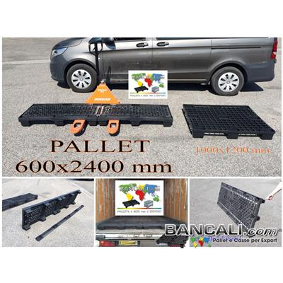 Nest-Long-Pal-200x240W4 - Pallet in Plastica Grande 2000x2400 innestabile. inforcabile anche conTranspallet 690 mm. Griglia Brevettata con Barre di Metallo,Tara Peso Kg.100