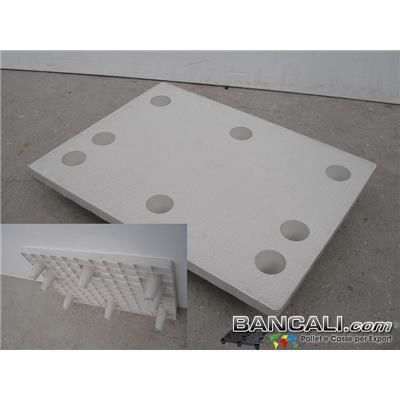 NestA60x80BKP - MiniPALLET 60x80 Piano Chiuso inseribile / impilabile / Innestabile con 9 Piedi Conici, di cui 3 Asimetrici; Pianale Ruvido bollinato.  Kg. 5,5