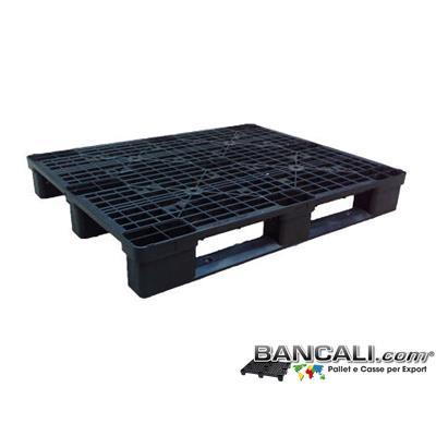 P100x120S3STX - Bancale in Plastica 100x120 con 3 traverse, Pianale grigliato molto robusto Peso Tara. 13 Kg.