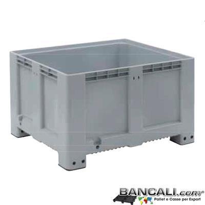 PALBox100x120h76 - PALLET BOX Cassone Rettang. 100x120 h.76cm  Pareti Chiuse