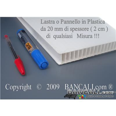 PAN205x205h20  - Lastra in Plastica Cannettata 2050x2050 mm con 49 Fori e 4 angoli stondati.