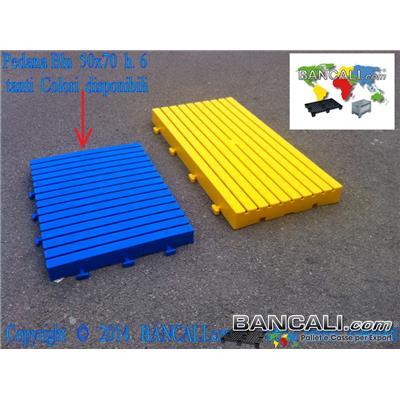 PEDANA50x70h6 - Pedana incastrabile 500x700 h.60mm Passerella Pedonabile Pavimentazione in plastica, componibile su 4 lati stampata in vari Colori PesoTara: 3,2 Kg