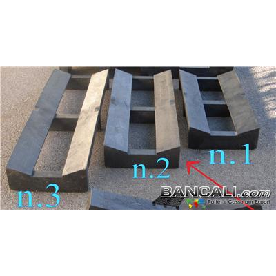 PS4x10D10LK2 - PALLET a SELLA in Plastica Piena 400x1000 mm. con Molta Portata. Culla Portabobine Diametro da 500 a 1000 mm. 2 Vie. LK2 Peso Tara 12 Kg.