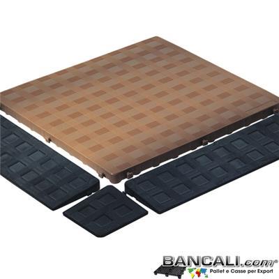 Ped50x50h25CM - Pedana Sottile Morbida 50x50 E h.2,5  Piano Chiuso Colore Marrone idonea per pavimmentazione  Componibile