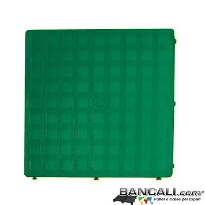 Ped50x50h25CV - Pedana Sottile Morbida 50x50 E h.2,5  Piano Chiuso Colore Marrone idonea per pavimmentazione  Componibile