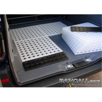 Ped50x50h25E - Pedana Sottile Morbida 50x50 E h.2,5  Grigliata Bianco Neutro Atossica  Componibile