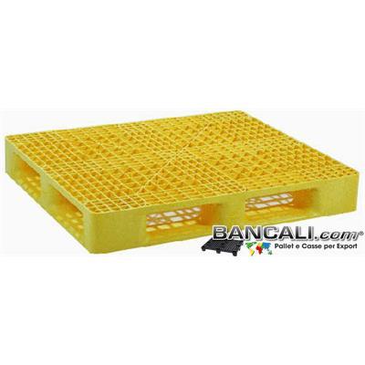 Per80x120s5gW - Europallet 80x120 grigliato in Plastica  perimetrale 5 Slitte