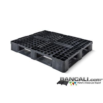 Perim-100x120-CP6-S6-Quark - Bancale in Plastica 1000x1200 Perimetrale con 6 Slitte sotto, di Media Pesante robustezza. Peso 16 Kg.