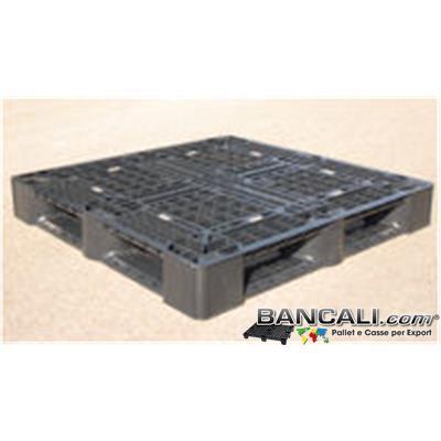 Bancale PERIMETRALE cm 110x110 QUADRATO  h.15 cm   Kg. 10,2 in Plastica NERO x CONTAINER
