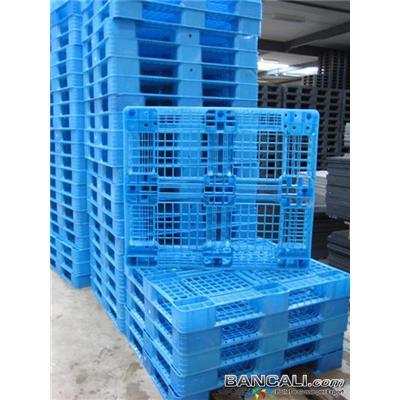 Perim98x115h12U - Bancale in Plastica 985x1150 cm altezza 1250 mm. di colore Azzurro (Pallet realizzato in Esclusiva per Samsung) idoneo per Export. Peso Tara Kg. 8